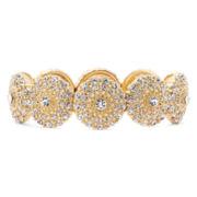 Monet® Gold-Tone Crystal Stretch Bracelet