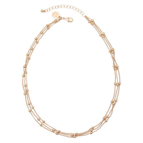 Liz Claiborne® Gold-Tone 3-Strand Ball Necklace