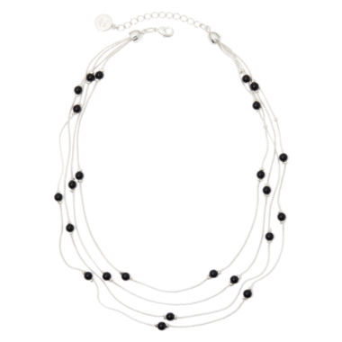 jcpenney.com | Liz Claiborne® 4-Strand Black Bead Necklace