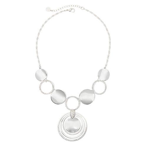 Liz Claiborne® Crystal Silver-Tone Y-Necklace