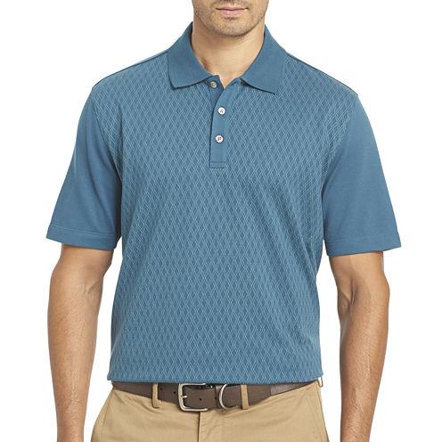 Van Heusen® Short-Sleeve Jacquard Knit Polo Shirt