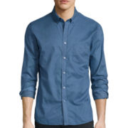 No Retreat Long-Sleeve Button-Up Woven Shirt