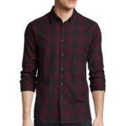 No Retreat Long-Sleeve Plaid Button-Up Woven Shirt