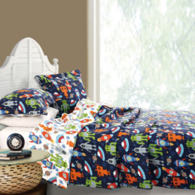 jcpenney.com | Greenland Home Fashions Robots in Space Reversible Quilt Set