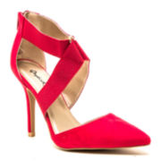 Qupid Mixi Pointed-Toe Pumps