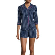 Comfort & Co 3/4 Sleeve Shirt and Shorts Pajama Set