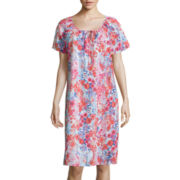 Adonna® Flutter-Sleeve Patio Nightgown
