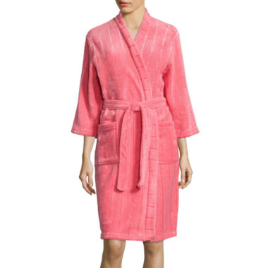 jcpenney.com | Comfort & Co Long-Sleeve Fleece Wrap Long Robe