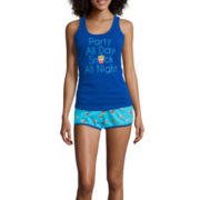 Sleep Riot 2-pc. Tank Top and Shorts Pajama Set