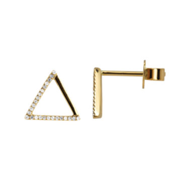 jcpenney.com | LIMITED QUANTITIES 1/10 CT. T.W. Diamond 14K Yellow Gold Triangle Earrings