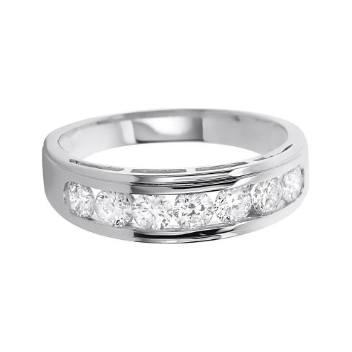LIMITED QUANTITIES Mens 1 CT. T.W. Diamond 14K White Gold Band