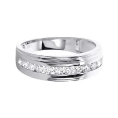 jcpenney.com | LIMITED QUANTITIES Mens 1 CT. T.W. Diamond 14K White Gold Band
