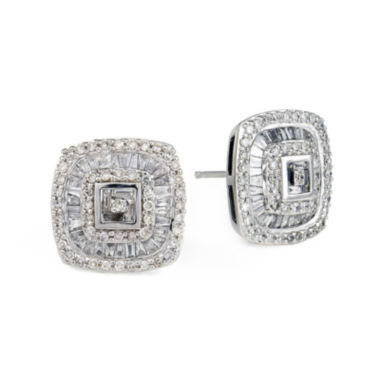 jcpenney.com | LIMITED QUANTITIES 1 CT. T.W. Diamond Square Stud Earrings