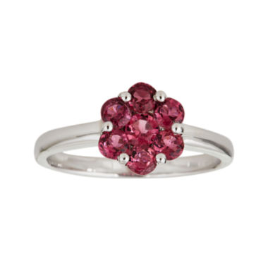 jcpenney.com | LIMITED QUANTITIES  Genuine Pink Tourmaline Flower Ring