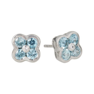 jcpenney.com | LIMITED QUANTITIES  Genuine Blue Zircon Flower Stud Earrings