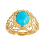 Genuine Turquoise Scroll Ring