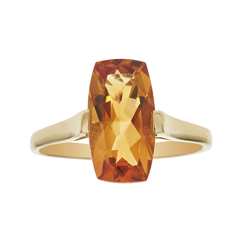 LIMITED QUANTITIES  Genuine Citrine 14K Yellow Gold Ring