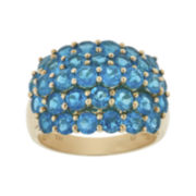 Genuine Neon Apatite 10K Yellow Gold Ring