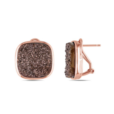 jcpenney.com | Cushion-Cut Lab-Created Brown Druzy Earrings