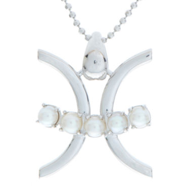 jcpenney.com | Pisces Zodiac Cultured Freshwater Pearl Sterling Silver Pendant Necklace