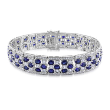 jcpenney.com | Lab-Created Blue and White Sapphire Sterling Silver Bracelet