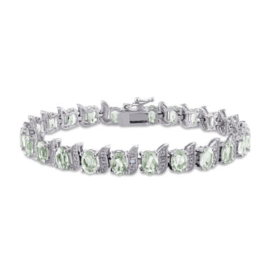 jcpenney.com | Genuine Green Quartz and Diamond-Accent Sterling Silver Bracelet
