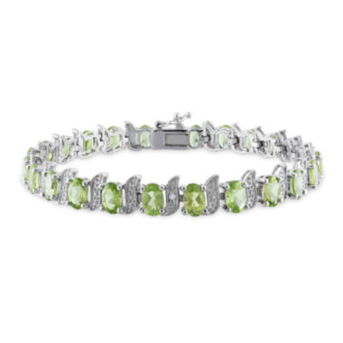 jcpenney.com | Genuine Peridot and Diamond-Accent Sterling Silver Bracelet