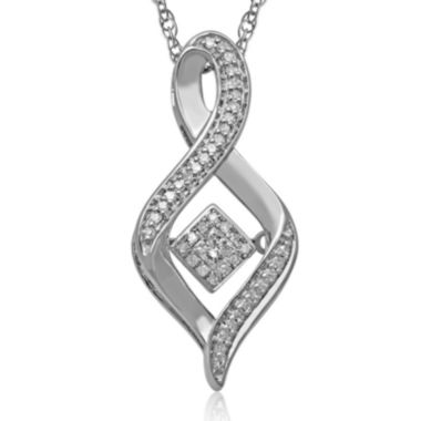 jcpenney.com | Love in Motion™ 1/6 CT. T.W. Diamond Sterling Silver Swirl Pendant Necklace