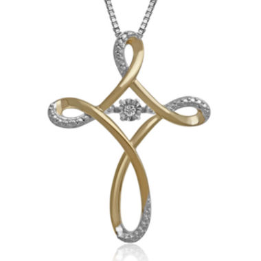 jcpenney.com | Love in Motion™ Diamond-Accent Two-Tone Cross Pendant Necklace