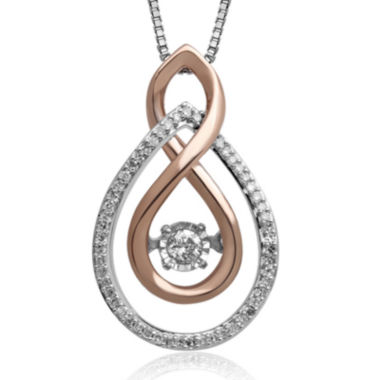 jcpenney.com | Love in Motion™ 1/6 CT. T.W. Diamond Two-Tone Double-Teardrop Pendant Necklace