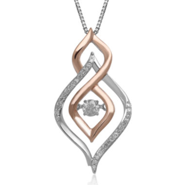 jcpenney.com | Love in Motion™ 1/4 CT. T.W. Diamond 10K Two-Tone Gold Teardrop Pendant Necklace