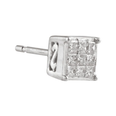 jcpenney.com | 1/10 CT. T.W. Diamond 10K White Gold Single Stud Earring
