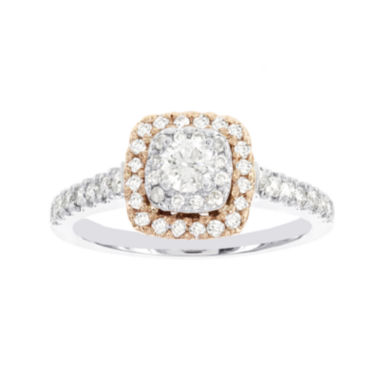 jcpenney.com | Lumastar 3/4 CT. T.W. Diamond 14K Two-Tone Gold Bridal Ring