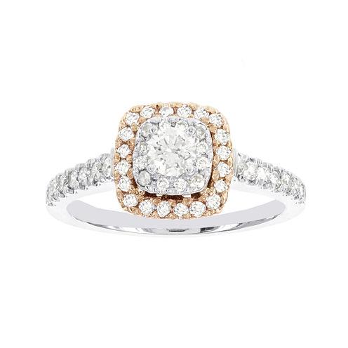 Lumastar 3/4 CT. T.W. Diamond 14K Two-Tone Gold Bridal Ring