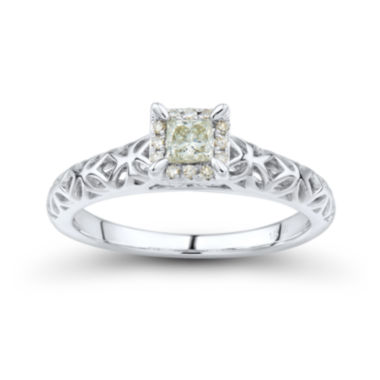 jcpenney.com | Princess-Cut 1/3 CT. T.W. Diamond 14K White Gold Promise Ring