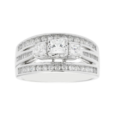 jcpenney.com | Love Lives Forever™ 1 CT. T.W. Princess-Cut Diamond 10K White Gold 3-Stone Ring