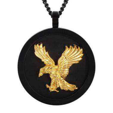 jcpenney.com | Mens Two-Tone Stainless Steel Eagle Pendant Necklace