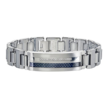 jcpenney.com | Mens 1/5 CT. T.W. Diamond Stainless Steel and Tungsten Bracelet