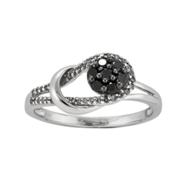 jcpenney.com | 1/3 CT. T.W. White and Color-Enhanced Black Diamond Love Knot Ring