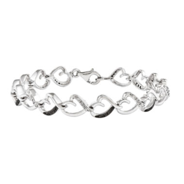 jcpenney.com | 1/6 CT. T.W. White and Color-Enhanced Black Diamond Sterling Silver Tennis Bracelet