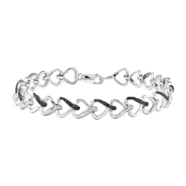 jcpenney.com | 1/10 CT. T.W. White and Color-Enhanced Black Diamond Sterling Silver Tennis Bracelet
