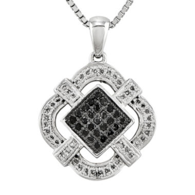 jcpenney.com | 1/3 CT. T.W. White and Color-Enhanced Black Diamond Pendant Necklace