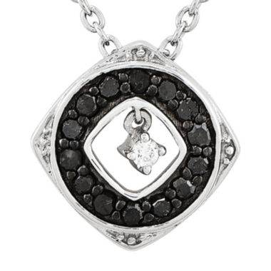 jcpenney.com | 1/5 CT. T.W. White and Color-Enhanced Black Diamond Sterling Silver Fashion Pendant Necklace