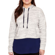 a.n.a® Layered Sweatshirt - Plus