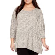 a.n.a® Drapey Poncho Sweater - Plus