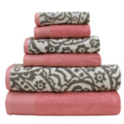 Pacific Coast Textiles™ Yarn-Dyed Paisley 6-pc. Bath Towel Set