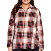 Stylus™ Oversized Back-Pleat Shirt - Plus