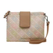 Liz Claiborne® Double Top Zip Crossbody Handbag