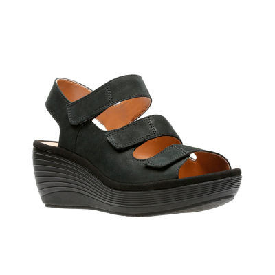 Juno Reedly Wedge Sandals Clarks Womens Ybgyf76v