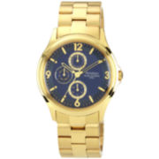 Armitron® Mens Blue & Gold-Tone Multifunction Watch